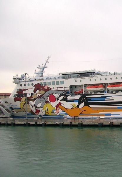Un navire de la Moby-lines à Livourne - Flickr/Feder|co