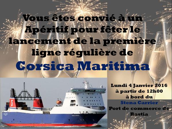 Invitation de Corsica Maritima postée sur les réseaux sociaux.