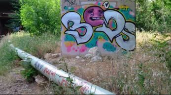 La canalisation d'Alteo longe l'ancienne voie ferrée Photo Lisa George