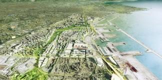La gare du Canet doit laisser place à un long parc bordé d'habitations (Crédits :EUROM_AERIEN 3 HD© LABTOP pour le Groupement François Leclercq)