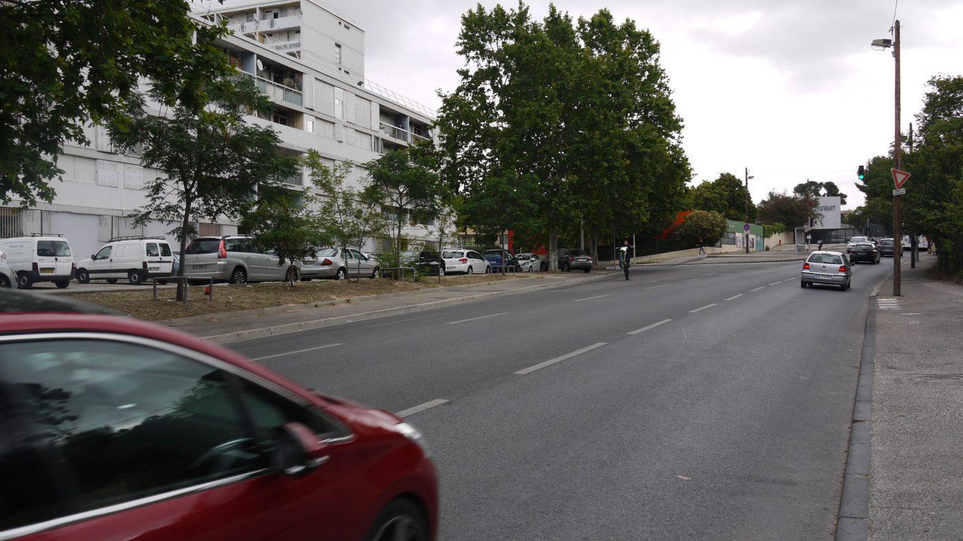 L'avenue de Frais-Vallon, non loin du collège Jacques Prévert.