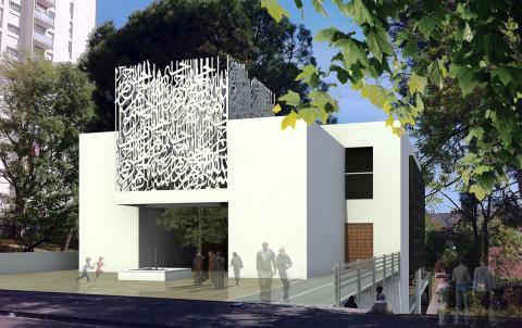 Le projet final d'entrée principale, pensé par les architectes de CBF studio.