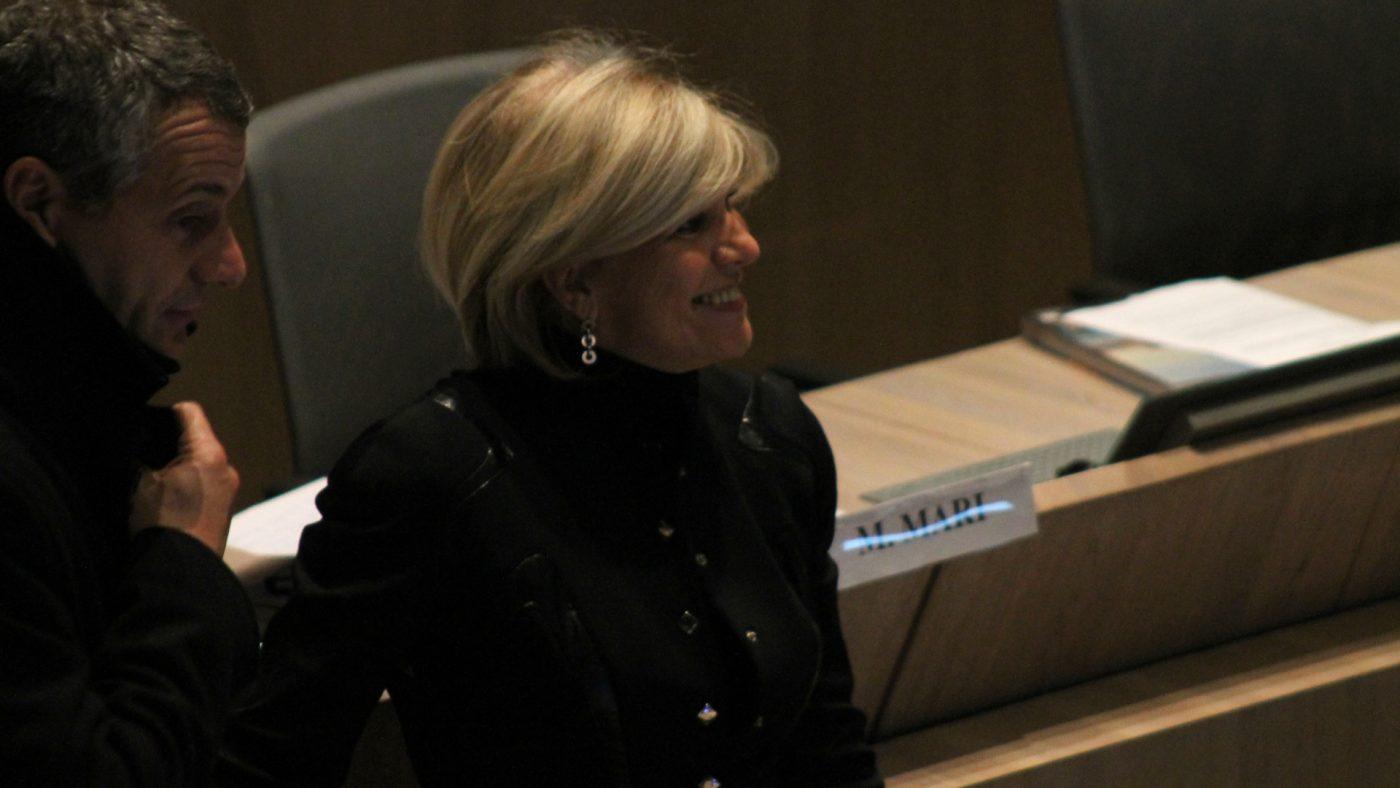 Sylvie Andrieux au conseil municipal en 2012.