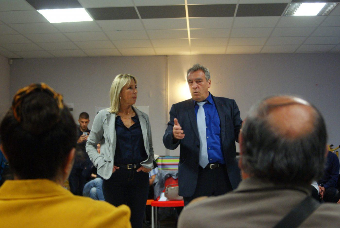 Arlette Fructus, adjointe à l'urbanisme et Yves Rousset, préfet pour l'égalité des chances.