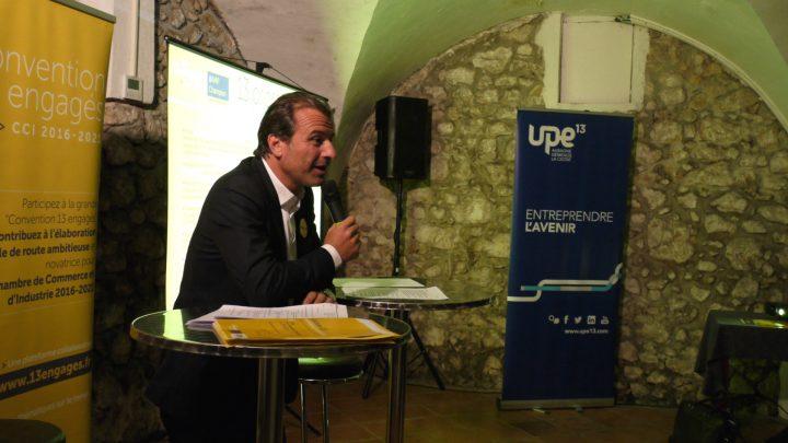 Jean-Luc Chauvin en meeting à Aubagne le 11 octobre