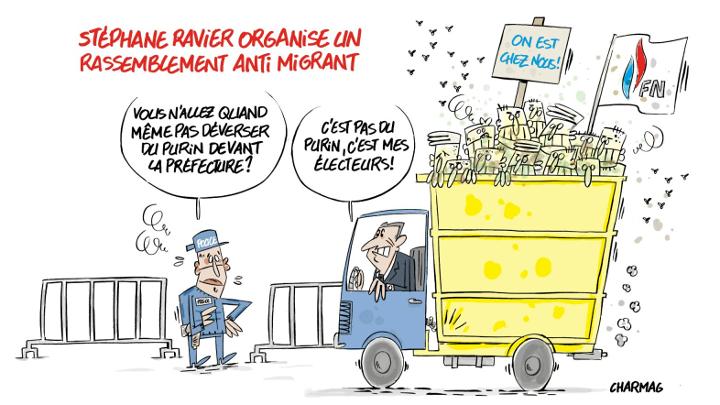 Charmag commente l'appel a manifester contre l'accueil des migrants de Stephane Ravier 1