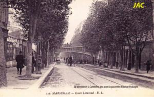Le cours Lieutaud du temps du tramway et des platanes. Photo issue de l'appel à projet