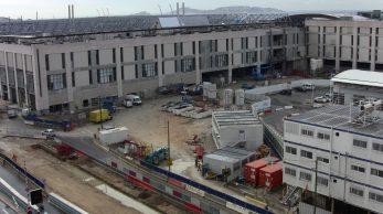 Les terrasses du port en plein travaux (Photo : D.R.)