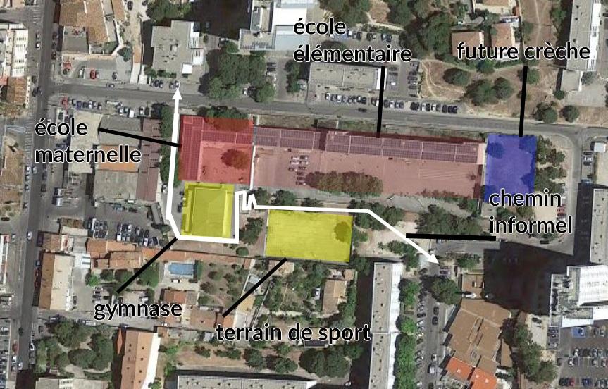Carte du groupe scolaire La Viste Bousquet ©NG