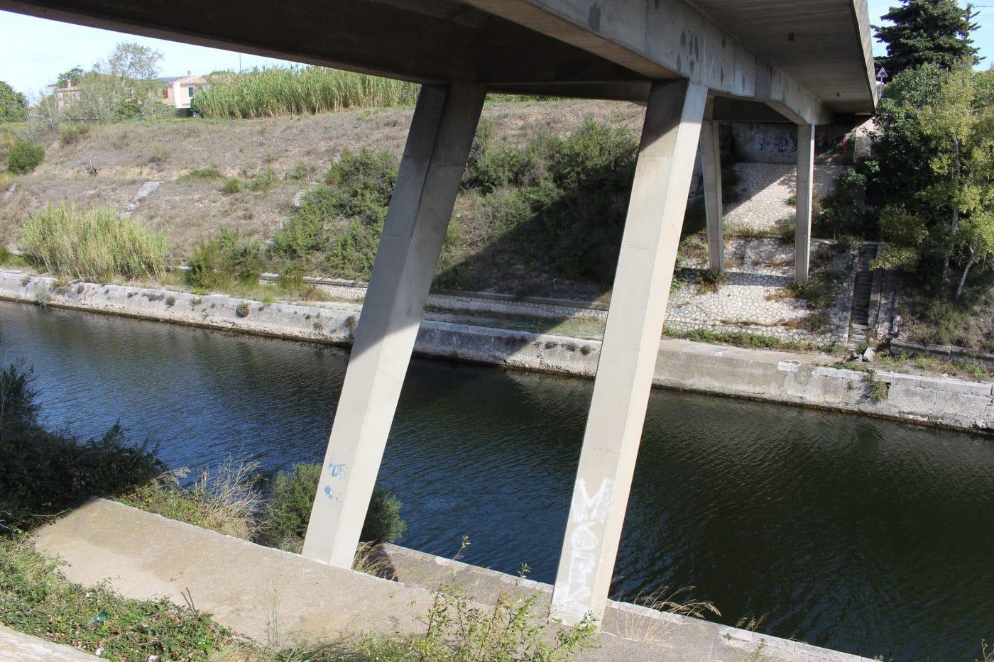 Glissements de terrain sur les talus du canal du Rove à Marignane