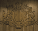 Détail de la salle de Bargemon où se réunit le conseil municipal de Marseille.