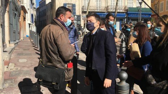 Troisième jour de stage : conférence de presse avec le maire de Marseille